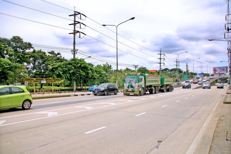 Snelheid haastig bij Km 1 Ramintra-Road royalty-vrije stock fotografie
