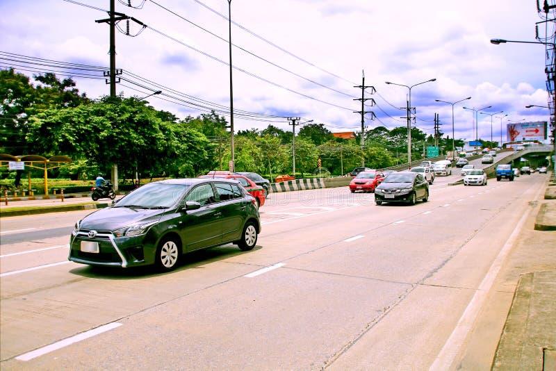 Snelheid haastig bij Km 1 Ramintra-Road stock afbeelding