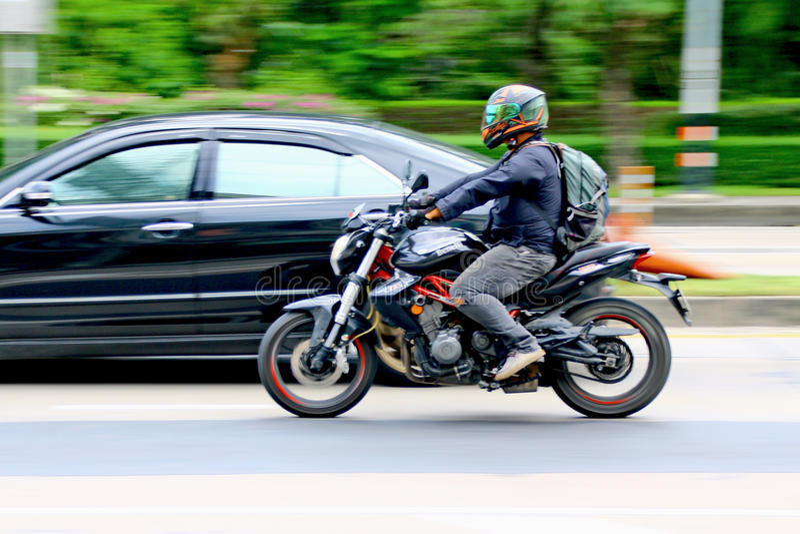 Snelheid haastig bij Km 1 Ramintra-Road royalty-vrije stock foto's