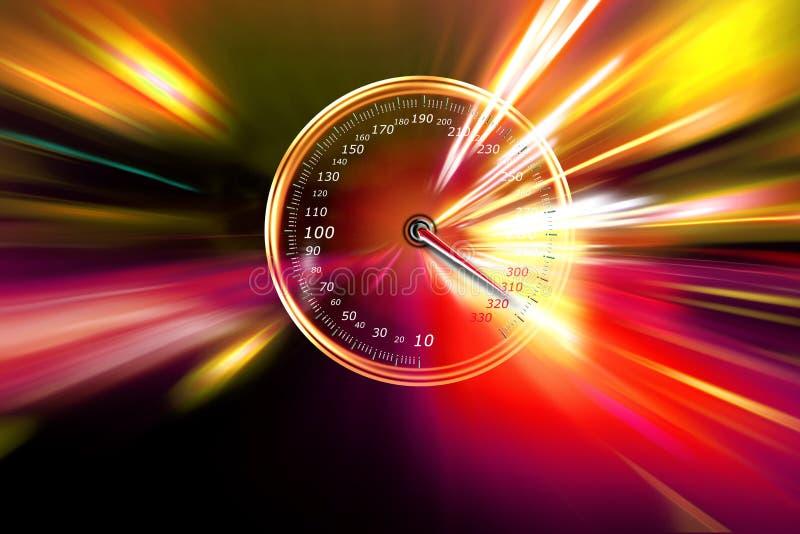 snelheid op de snelheidsmeter royalty-vrije stock afbeeldingen