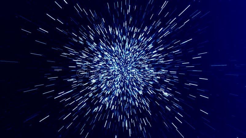 Snelheid, samenvatting, de futuristische achtergrond van de technologiewetenschap royalty-vrije illustratie