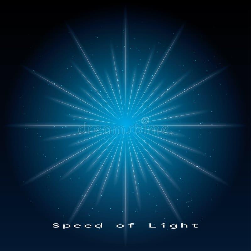 Snelheid van licht royalty-vrije illustratie