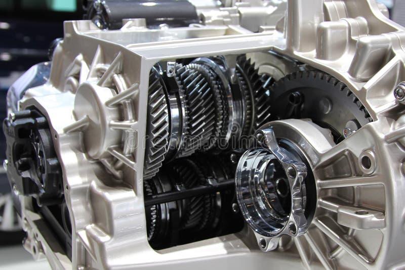 6 snelheids robotachtige versnellingsbak internals, toestellen en wrijvingkoppelingen royalty-vrije stock foto