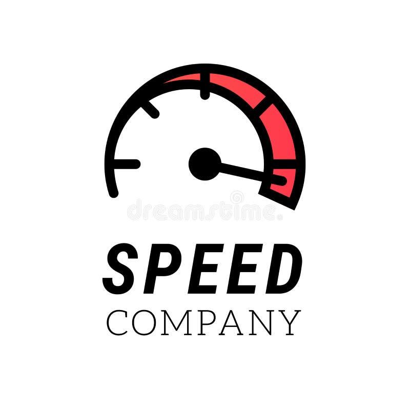 Snelheidsembleem Het abstracte symbool van Internet of van de auto van het ontwerp van het snelheidsembleem Vectorpictogram voor  vector illustratie