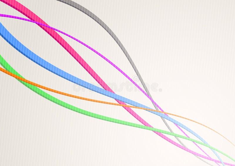 Snelheidsgolven die - kanaal of kabel stromen vector illustratie