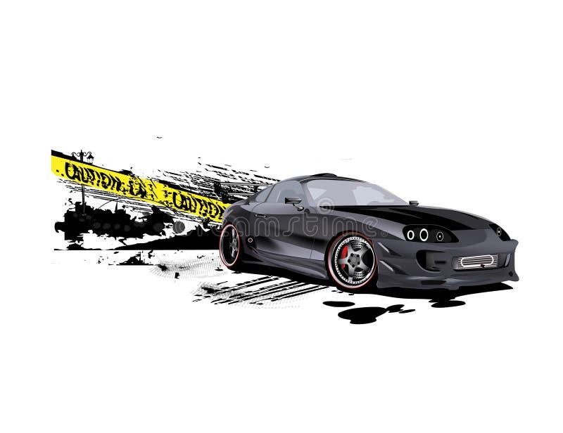 snelheidsmaniak van de drifter de Supra aangepaste voorzichtigheid royalty-vrije illustratie