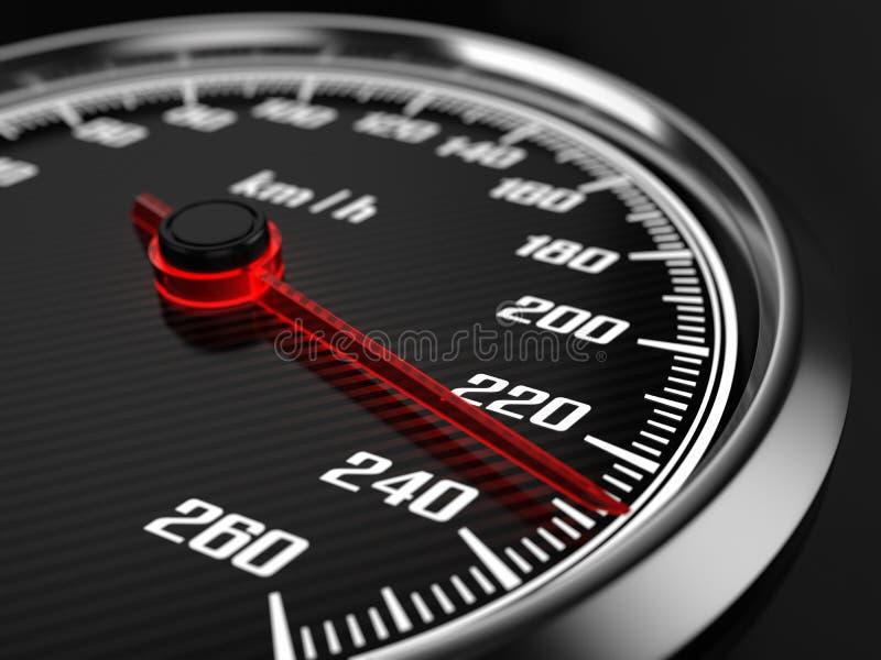 Snelheidsmeter stock illustratie