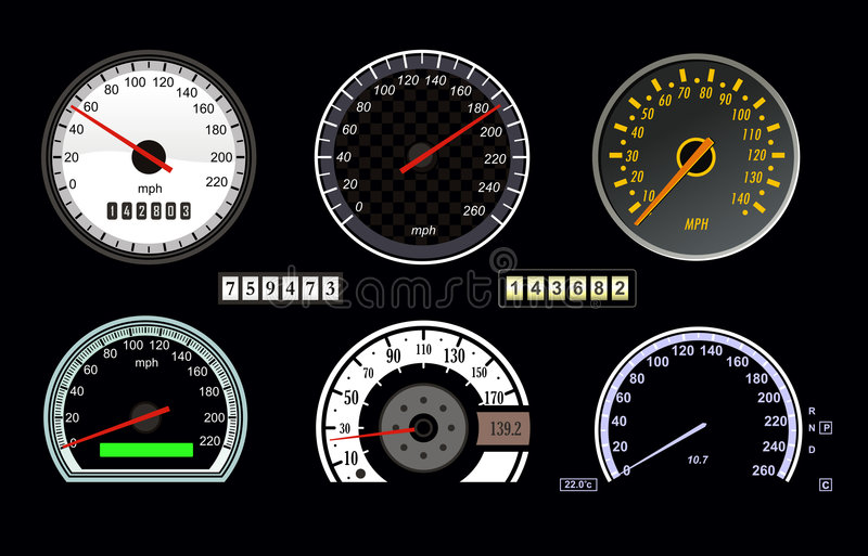 Snelheidsmeter vector illustratie