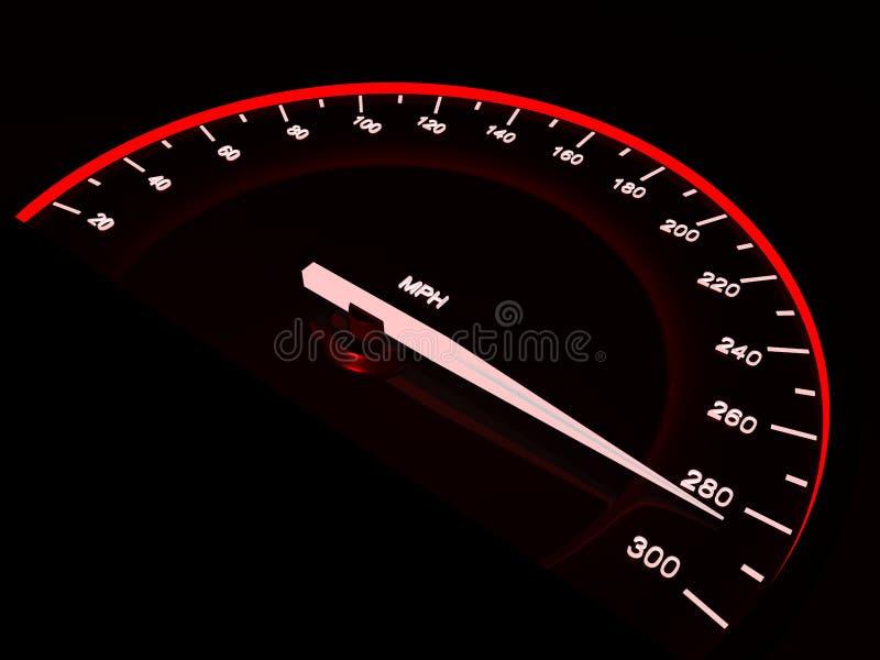 Snelheidsmeter. vector illustratie