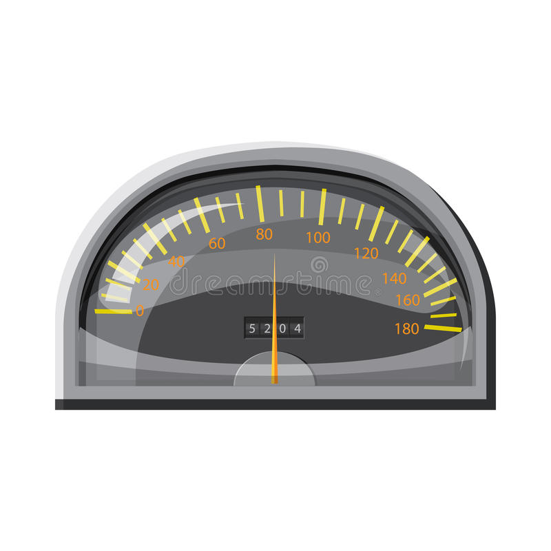 Snelheidsmeter voor auto'spictogram, beeldverhaalstijl stock illustratie