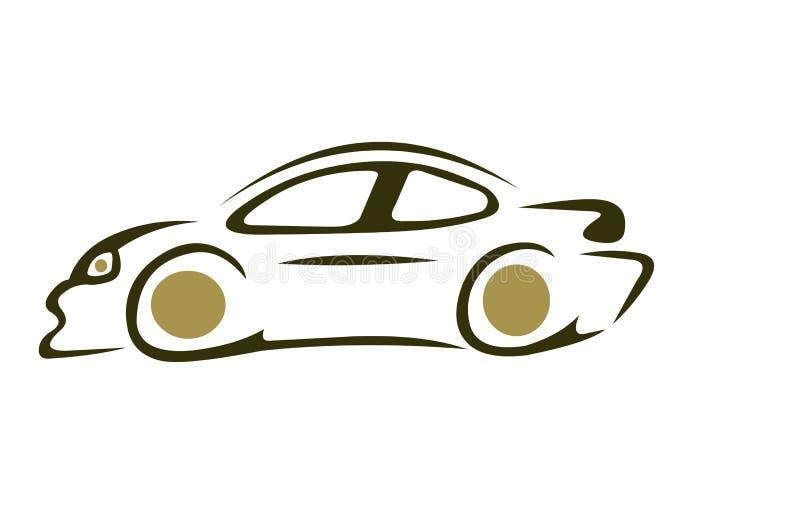 Snelheidssportwagen stock illustratie