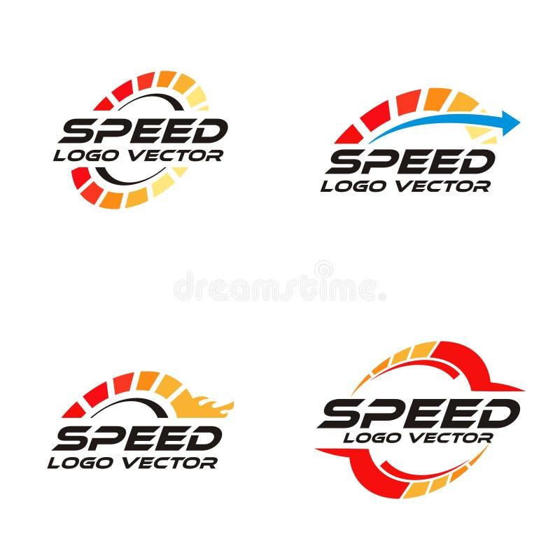 Snelheidst/min embleem vector illustratie