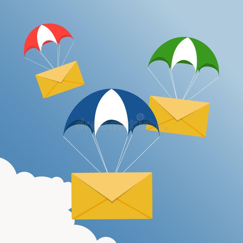 Snelle correspondentie Het pictogram van de luchtpostlevering royalty-vrije illustratie