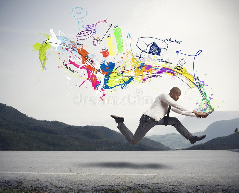 Snelle creatieve zaken stock fotografie
