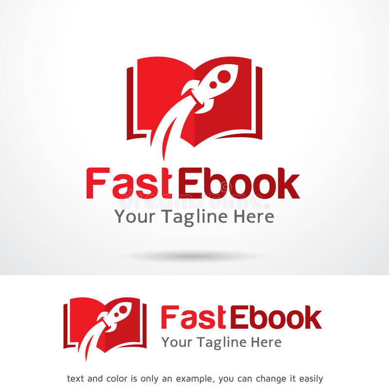 Snelle Ebook Logo Template Design Vector royalty-vrije illustratie