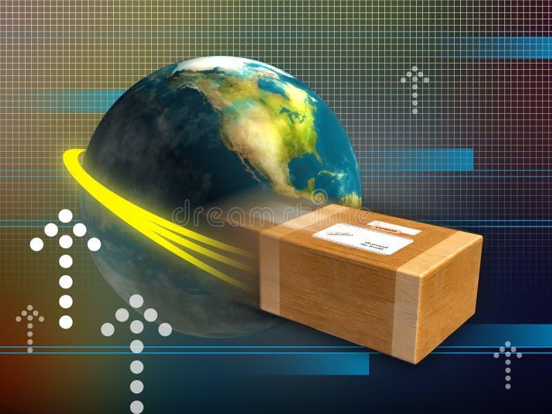 Snelle levering stock illustratie
