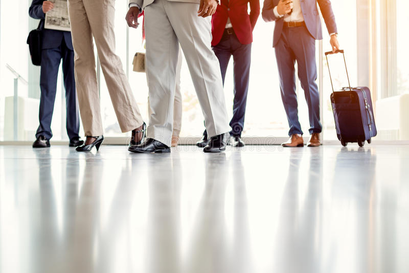 Snelle stappen van zakenlieden stock afbeelding