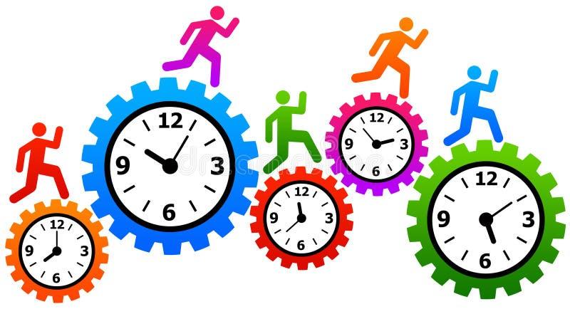 Snelle tijd stock illustratie