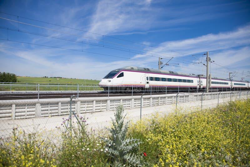 Snelle trein royalty-vrije stock foto