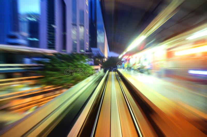 Snelle trein royalty-vrije stock afbeelding