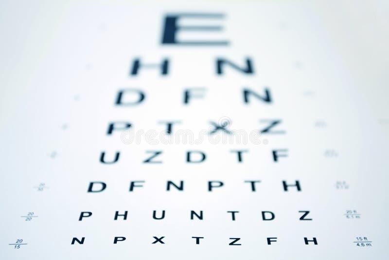 Download Snellen Eye Chart stock photo. Image of letters, myopia - 4596530