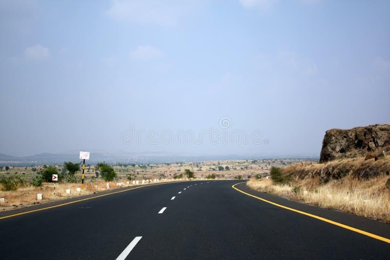 Snelweg in India stock fotografie
