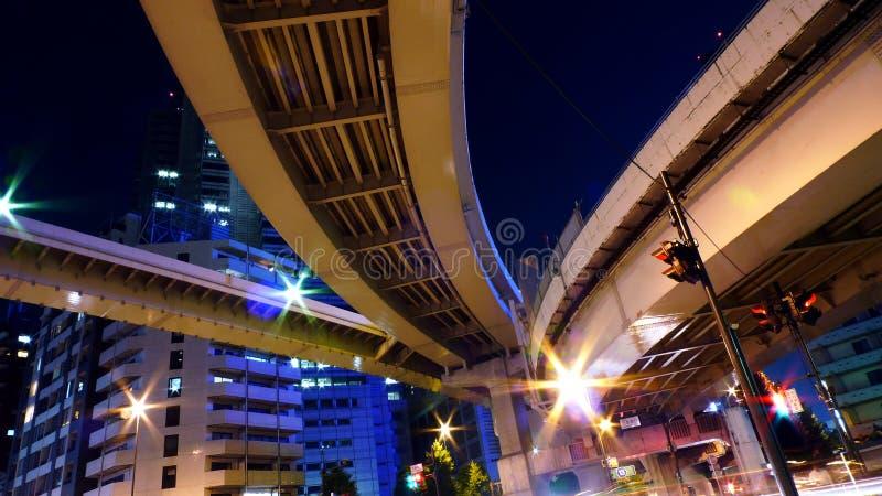 Snelweg in Tokyo. stock fotografie