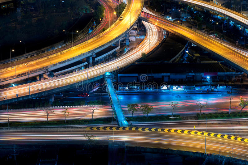 Snelweginfrastructuur voor vervoer stock afbeeldingen