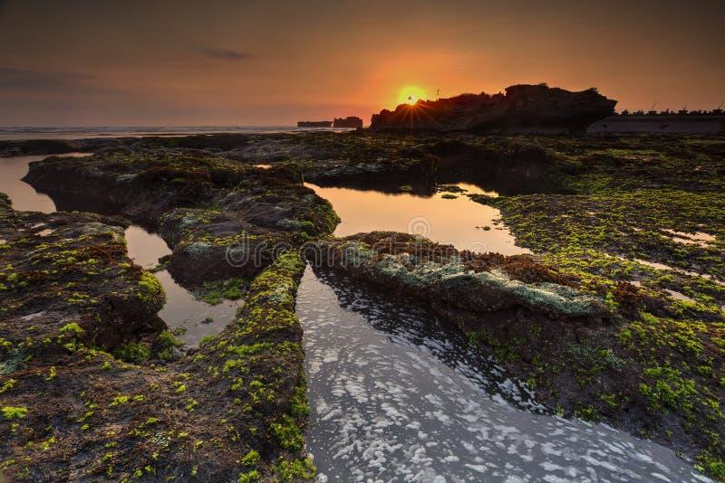 Snenic-Ansicht des Strandes in Bali lizenzfreies stockfoto