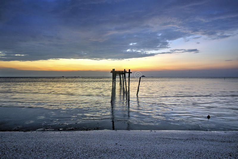 Snenic-Ansicht des Strandes in Bali lizenzfreie stockbilder