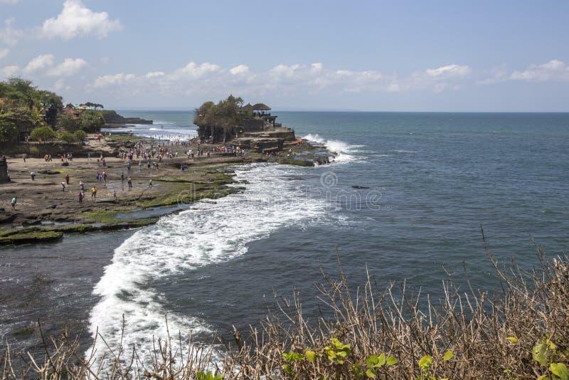 Snenic sikt av stranden i Bali royaltyfri fotografi