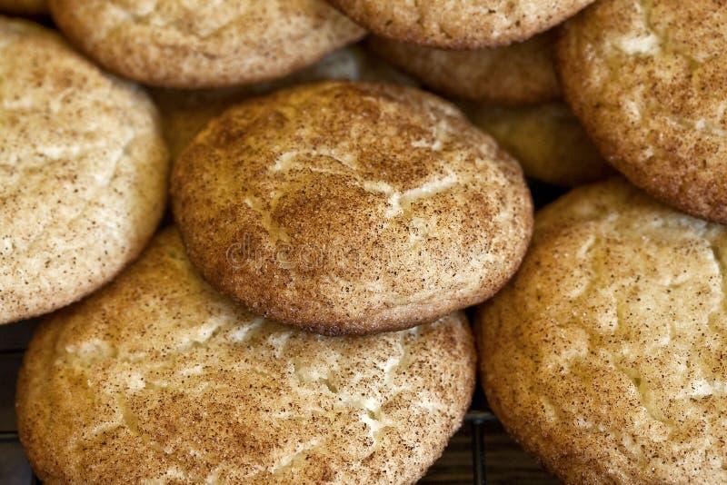 Snickerdoodles arrosé par sucre images stock