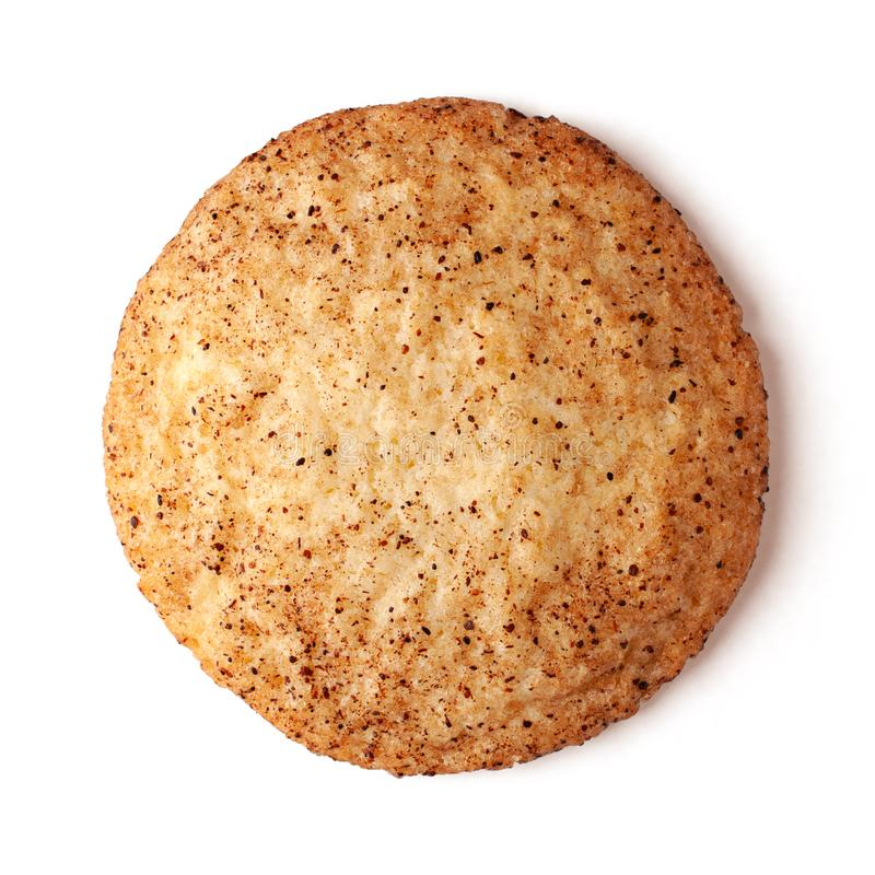 Snickerdoodles cookie isolated on white background stock images