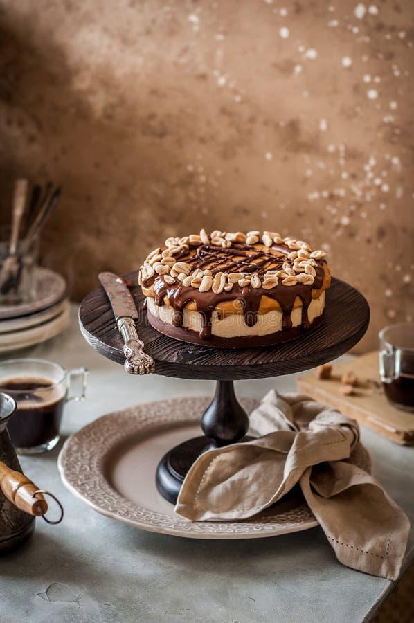 Snickers κέικ στρώματος στοκ φωτογραφία με δικαίωμα ελεύθερης χρήσης