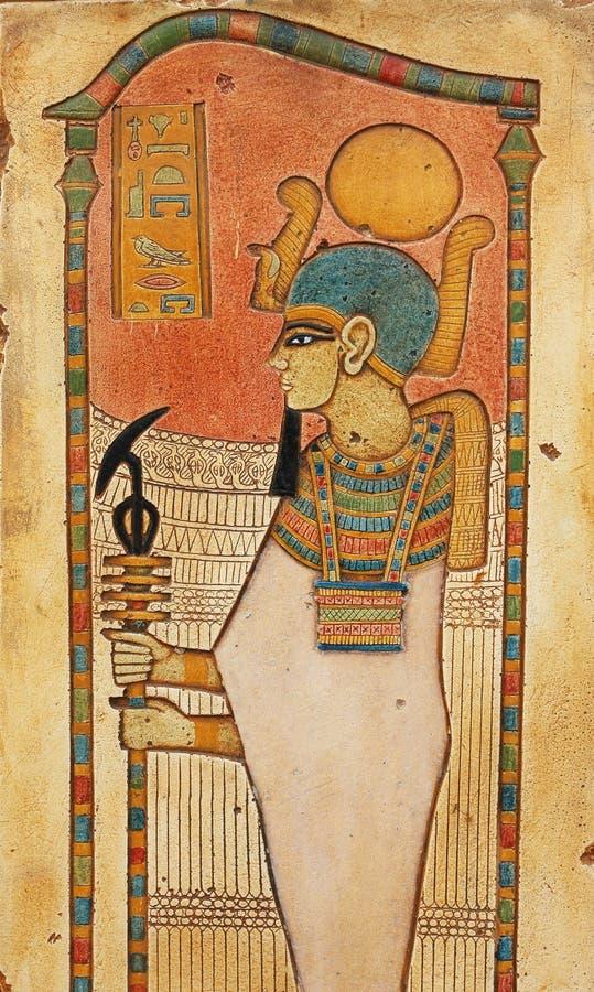 snida den egyptiska stenen royaltyfri bild