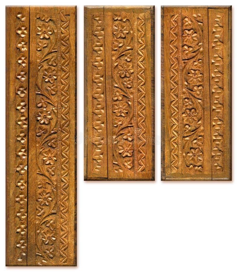 snida design mönsan element trä royaltyfria bilder