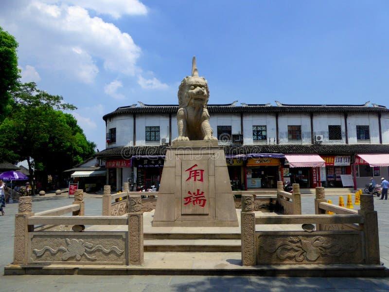 Snida för sten för Lu duan arkivfoto