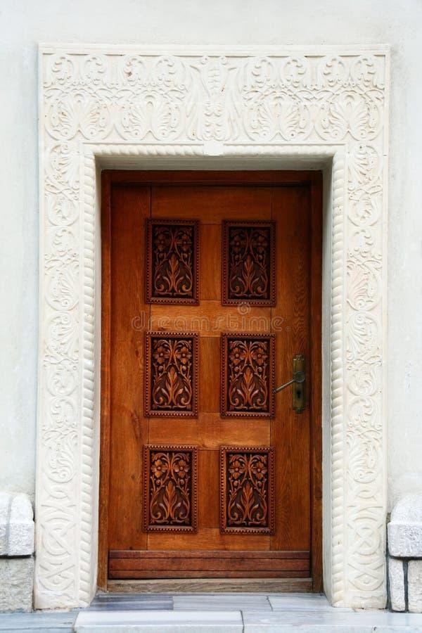 sniden dörrstenvägg royaltyfria foton