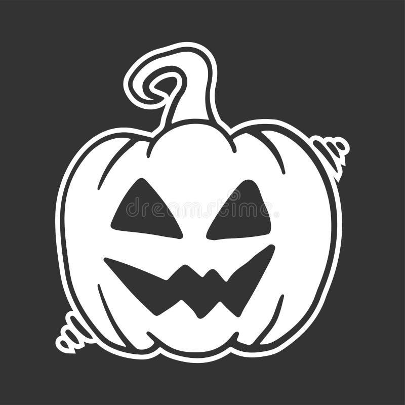 sniden halloween pumpa Vektorbegrepp i klotter och att skissa stil vektor illustrationer