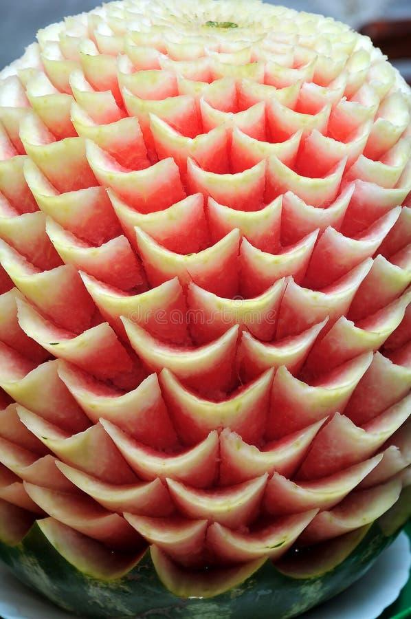 sniden vattenmelon royaltyfria bilder