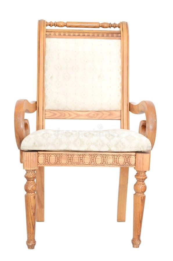snidit klassiskt trä för stol royaltyfri bild