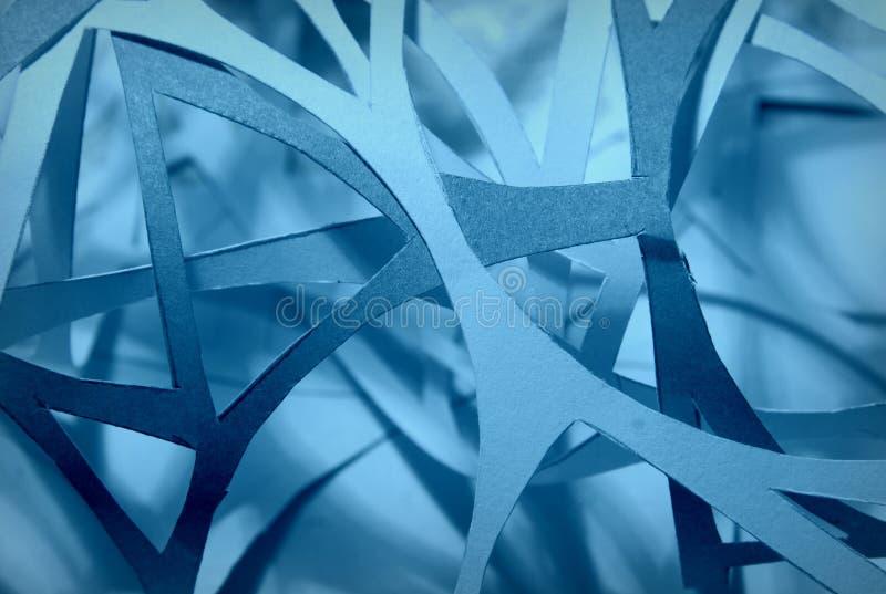 Snidit pappersabstrakt begrepp arkivfoto