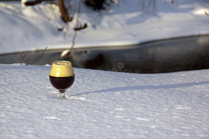 Snifter в снеге стоковые фотографии rf