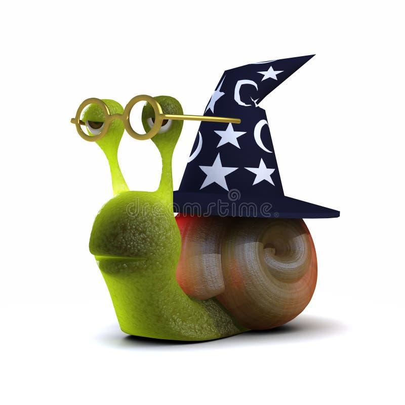 snigel för trollkarl 3d royaltyfri illustrationer