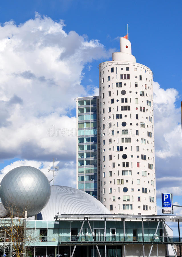 Snigel-torn Tigutorn i Tartu arkivbilder
