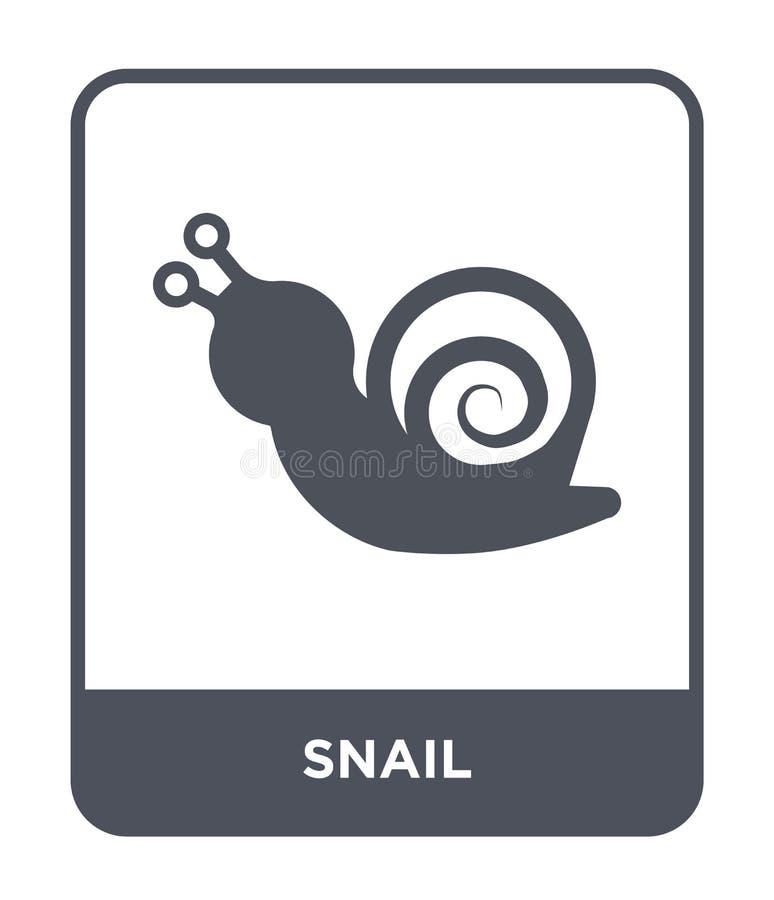 snigelsymbol i moderiktig designstil snigelsymbol som isoleras på vit bakgrund enkelt och modernt plant symbol för snigelvektorsy royaltyfri illustrationer