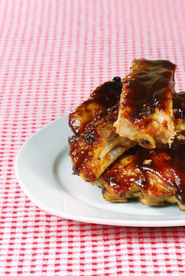 Snijd barbecue omhoog krabbetjes royalty-vrije stock fotografie