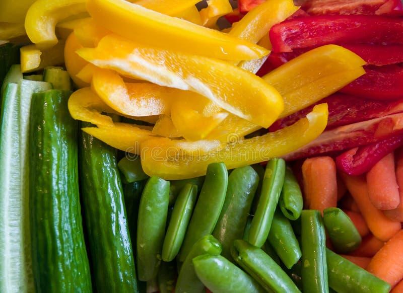Snijd groenten stock foto's