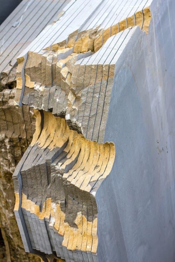 Snijd industrieel steen stock fotografie