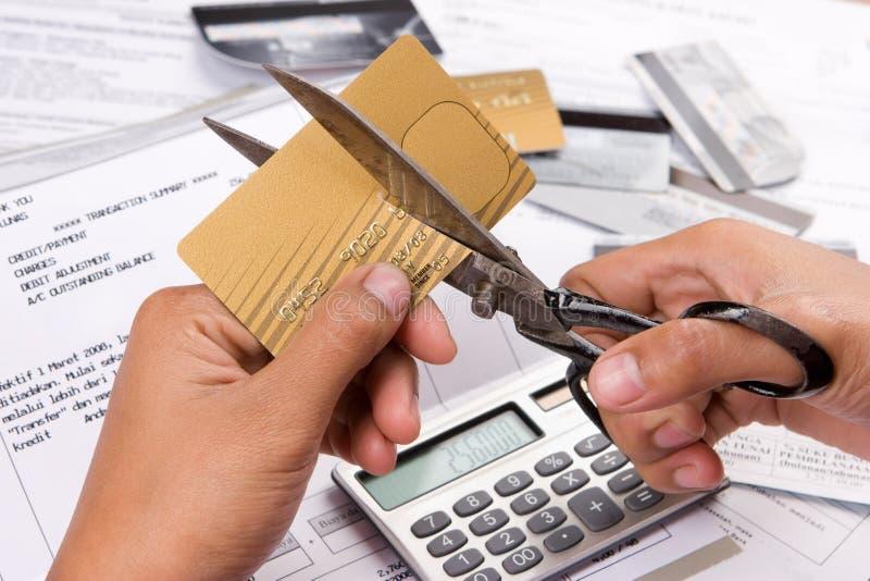 Snijd mijn creditcards royalty-vrije stock foto's